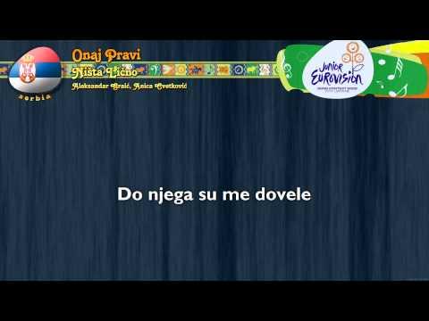 "[2009] Ništa Lično - ""Onaj Pravi"" (Serbia) - [Karaoke version]"