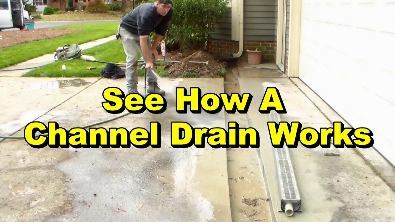 See Channel Drain System Working With Sump Pump Discharge