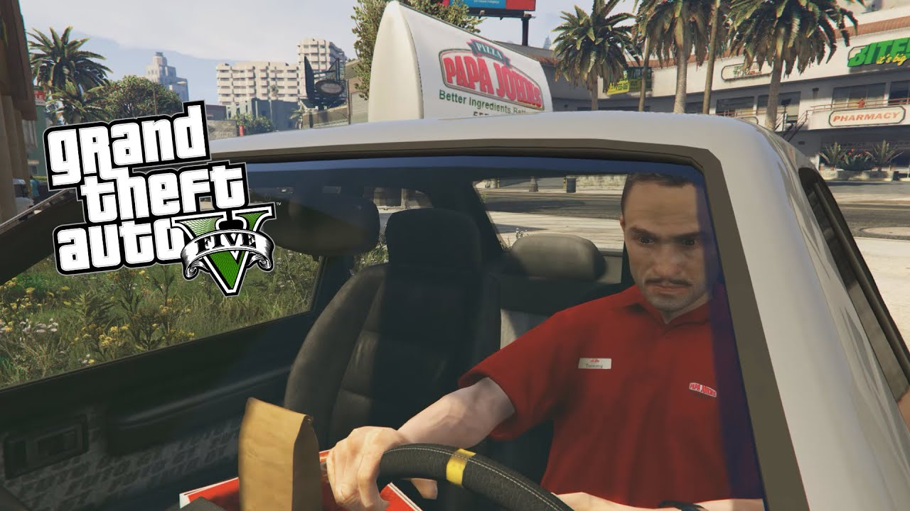 gta 5 pc mods pizza delivery mod deliver pizza in a custom papa johns pizza car gta 5 mods