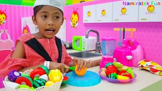 Mainan Anak Koki Cilik Main Masak-masakan - Serving Cooking Pretend Food Toys