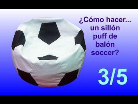 ¿Cómo hacer... un sillón puff balón soccer? - 3/5 Costura, armar en dos mitades