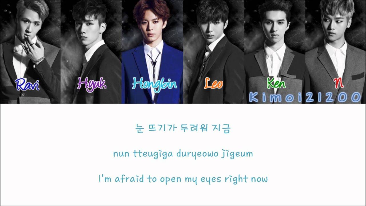 Vixx Eternity Hangul Romanization English Color