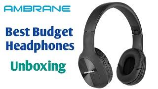 Unboxing best Budget Headphones English Ambrane WH-65 Bluetooth headphones ShoBro Tech