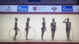Сборная Узбекистана.  Гран при Москва 2019.  Финал с обручами и булавами