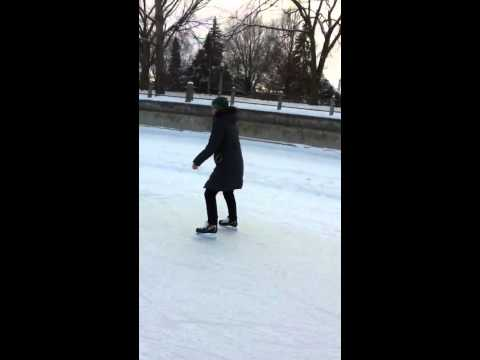 Paisley skating the rideau canal.