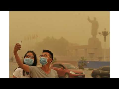Dust storm Beijing and northern China
