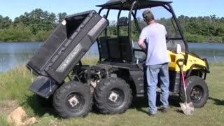 """2003 Polaris Ranger 6x6 """"electric Bed Lift Install And Test"""""""