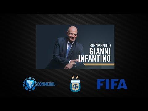 Visita de Gianni Infantino a la AFA