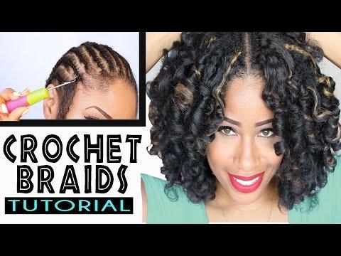 How To Crochet Braids W Marley Hair Original No Rod Technique