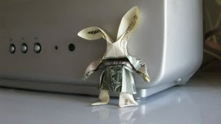 #27 Origami Hare, Rabbit By Заяц Зайчище - Yakomoga Origami Of The Dollar (money) Tutorial
