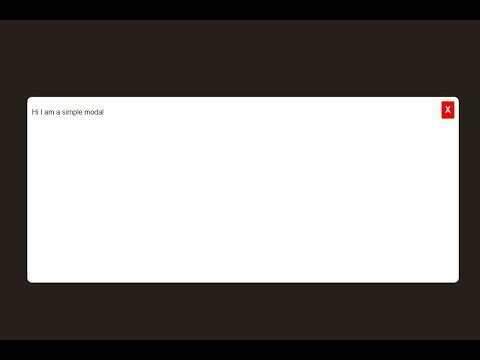 Simple Modal Box Only With HTML & CSS