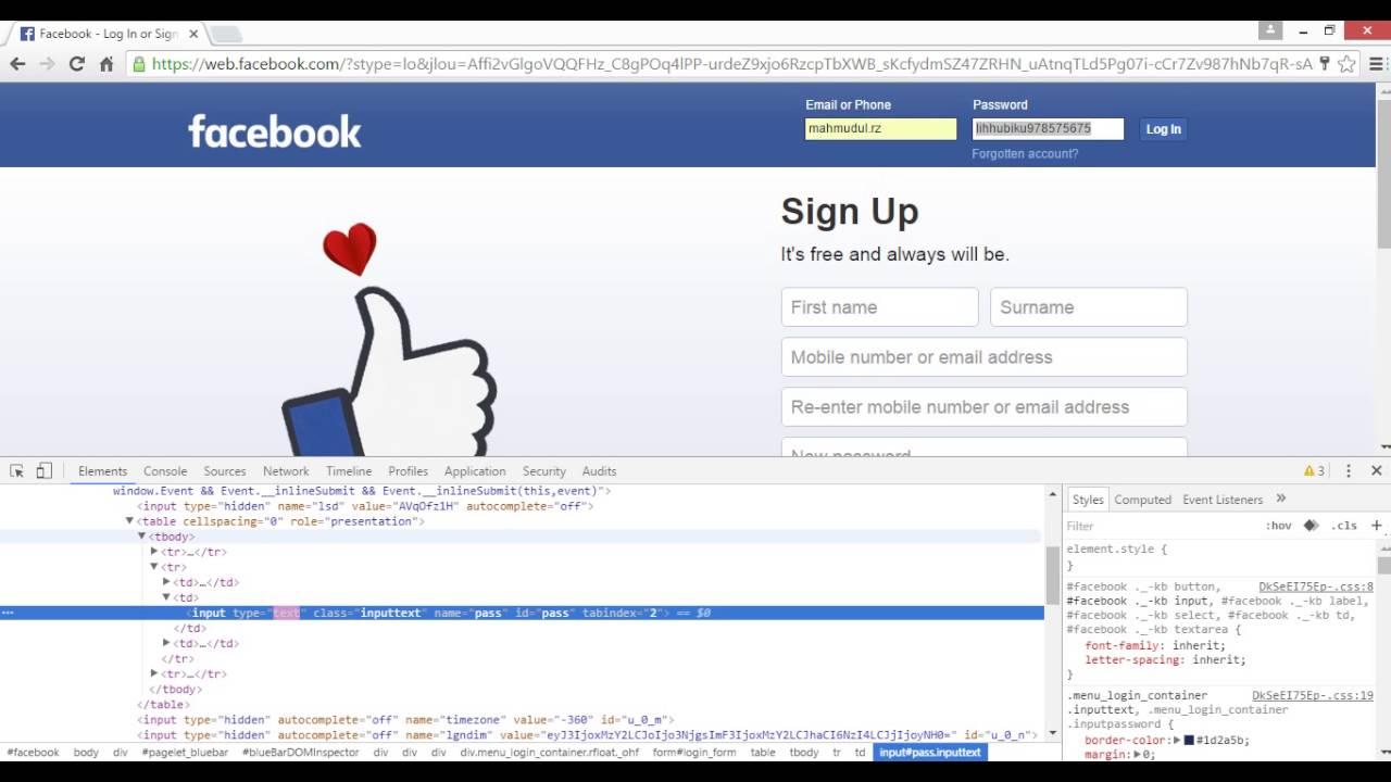 Facebook Id Hack