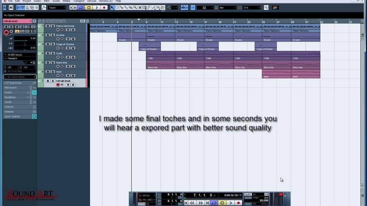 cubase 5 tutorial making a beat 2 youtube rh youtube com Cubase Elements Cubase SX Tutorial