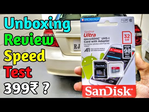 SanDisk Ultra 32GB SD Card With Adaptor Unboxing, Review & Speed Test   Best SD Card Under 400₹ ?