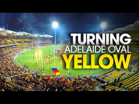 Timelapse: Turning Adelaide Oval Yellow
