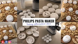 Trying alternative discs to make pasta with Philips Pasta and noodle maker VIVA collection HR2342