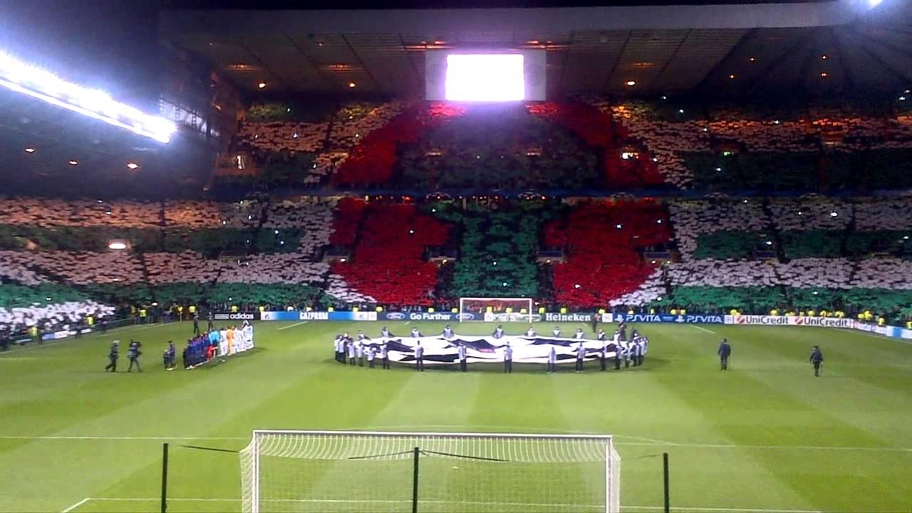Celtic vs Barcelona Tifo - YouTube