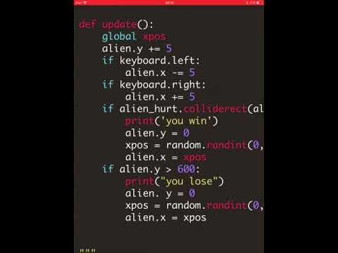 Pygame zero game code explained