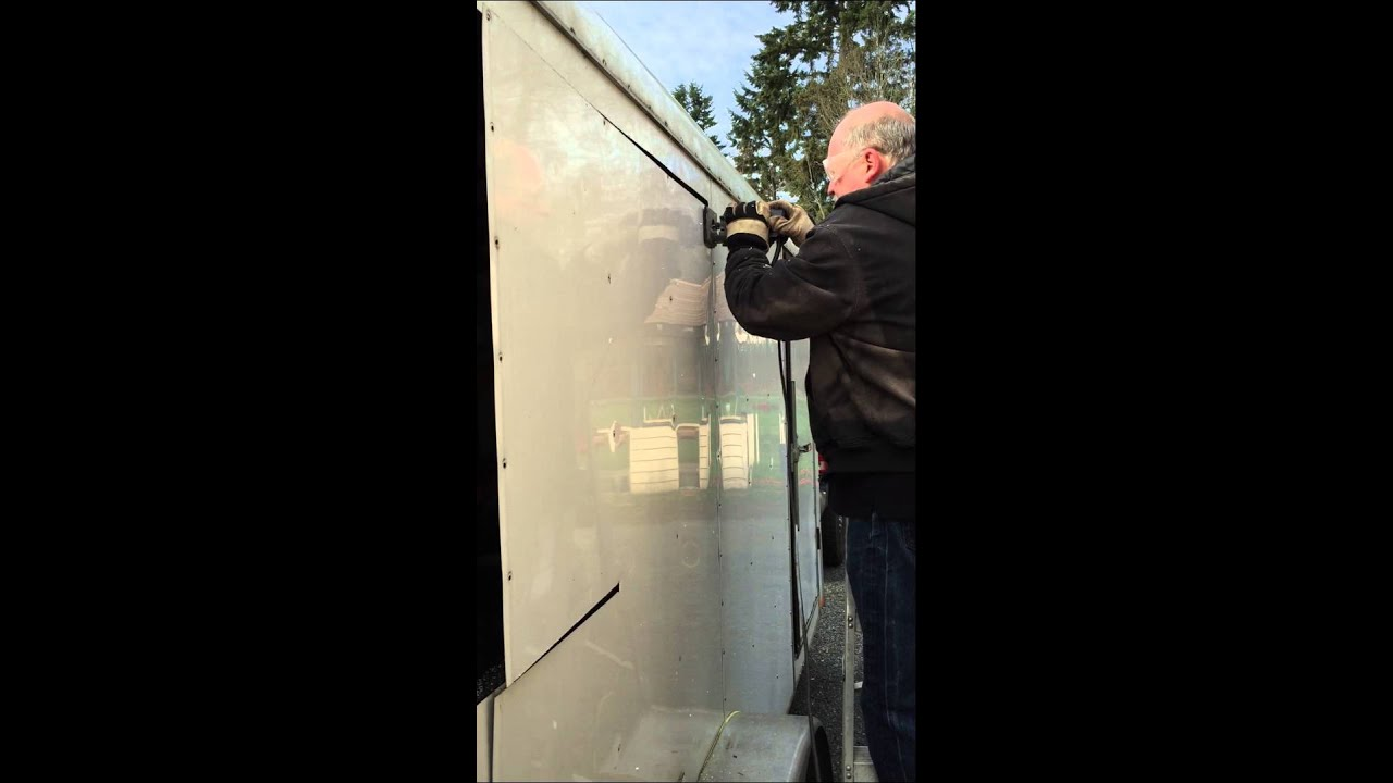 Side Door In Cargo Trailer Youtube