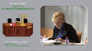 """Colloque """"Soft Law et droits fondamentaux"""" - Intervention Mme Francoise TULKENS"""