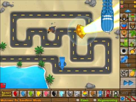 BTD5 Deluxe New Tower! Monkey Engineer Bloon Chipper