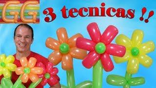 como hacer una flor con globos - globoflexia facil - como hacer flores con globos