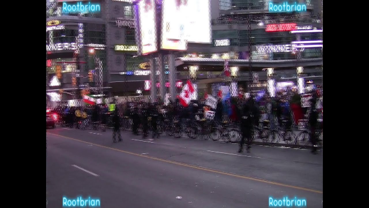 300 Batshit-Delusional Fringe Groups #covidiots gather at yonge-dundas square to spread lies and mis