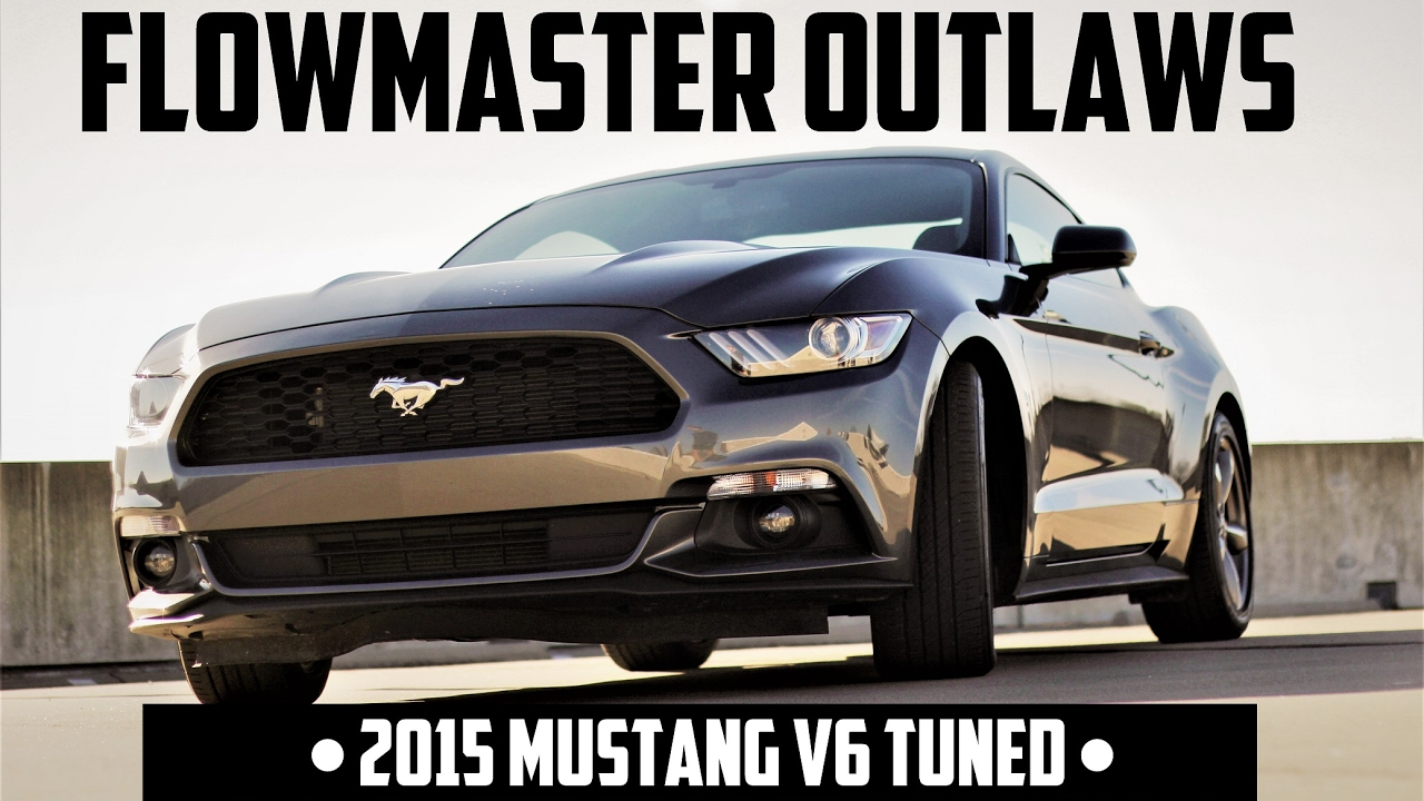 2015 Mustang V6 Flowmaster Outlaw Axleback Exhaust & MPT 87 PRX Tune (REV  LIMITER BOUNCING!!)