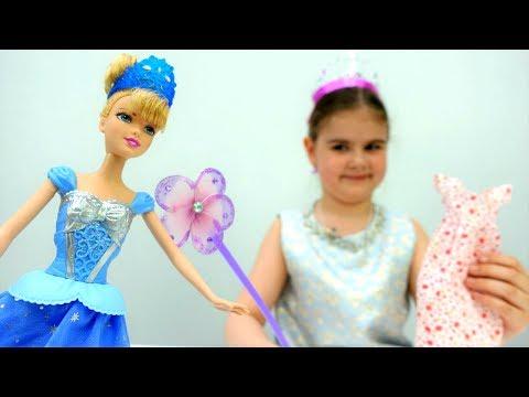 Видео для девочек #Дисней: Фея помогает Золушке собраться на бал! Игры #одевалки. Видео куклы