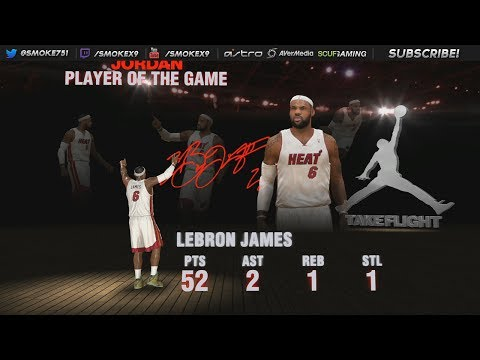 NBA 2K14: LeBron James 52 Points Vs Toronto Raptors (Sick Highlights) PS4 *NEW*