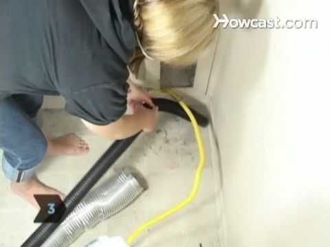how to clean a clothes dryer exhaust duct youtube. Black Bedroom Furniture Sets. Home Design Ideas