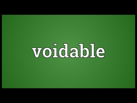 Voidable Meaning