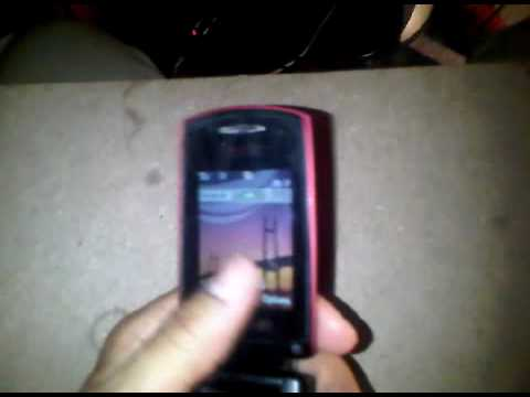 Samsung 3G SGH-A707 Red - works great - Unlocked.