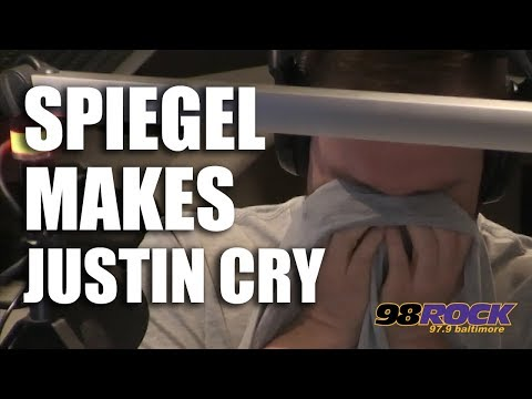 Spiegel Makes Justin Cry
