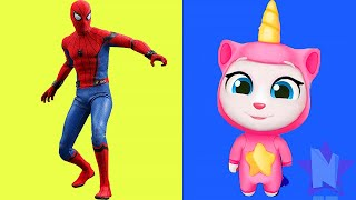 spiderman vs my talking angela unicorn
