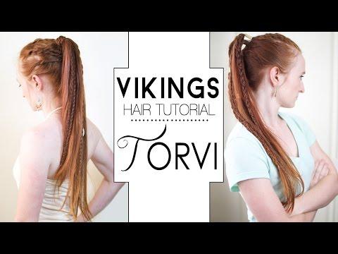 Vikings Hair Tutorial  Torvi Braided Ponytails