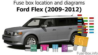 Fuse Box Location And Diagrams Ford Flex 2009 2012 Youtube