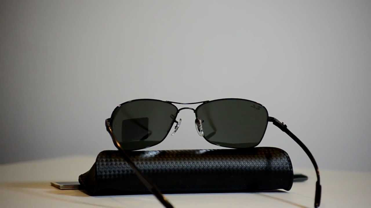 185395a51df New Authentic Ray Ban RB8302 Carbon Fibre Sunglasses RB 8302 002 RB 8302