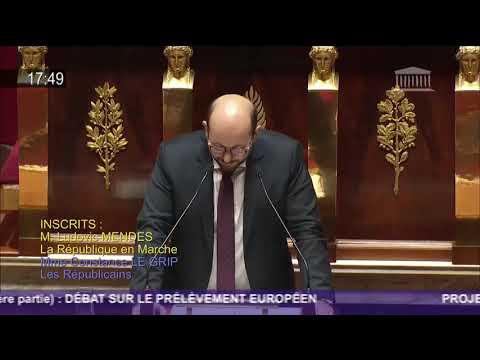 Discours sur le prélèvement sur recettes au profit de l'Union Européenne - PLF2018.