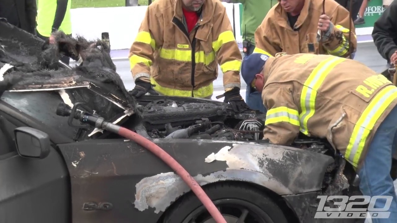 Mustang EXPLODES Into Flames! 1 - YouTube