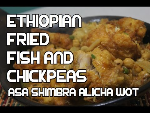 Ethiopian Fish Chickpeas Stew Recipe - Asa Shimbra Alicha Wot Amharic