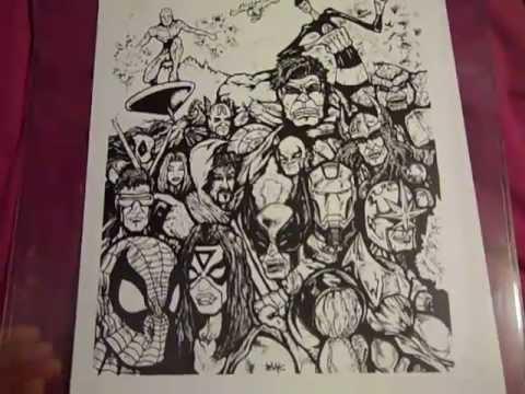 New Era Marvel Comics Hat Collection Chicago Comic Con 2012 Stan Lee
