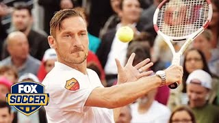 Roma stars play in charity tennis match