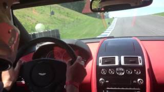 One lap in the 2014 Aston Martin Rapide S