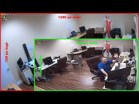 HD CCTV Camera (720p AHD) vs SD CCTV Camera (960H) Video Surveillance