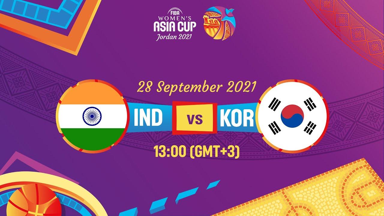 India v Korea   Full Game   FIBA Women's Asia Cup 2021 - Division A