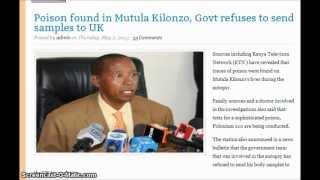 An Assassins Trade Mark, Polonium 210 : Did he or she also kill Kenya Senator Mutula Kilonzo?