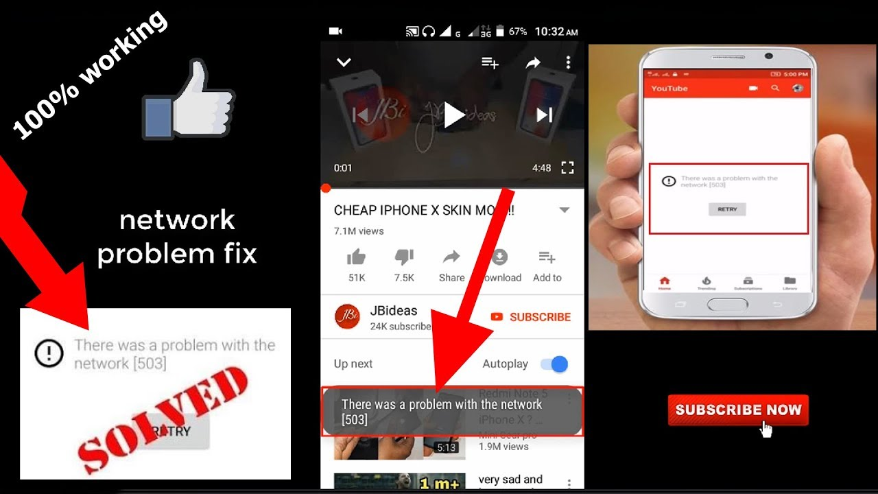 how to Fix there was a problem with the network [503] || Logic