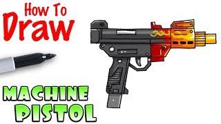 How to Draw Machine Pistol | Fortnite