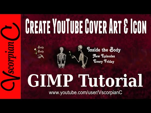 GIMP Tutorial - How to Make YouTube Channel Art & Icon Template by VscorpianC